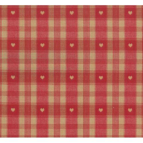 Tissu écossais coeur