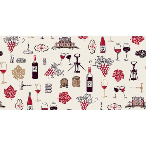 Tissu à motif vin Vignoble