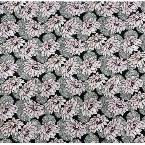 Tissu à motif fleurs Nénuphar