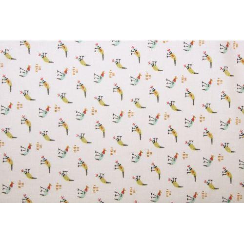 Tissu à motif oiseau KEZAKOI