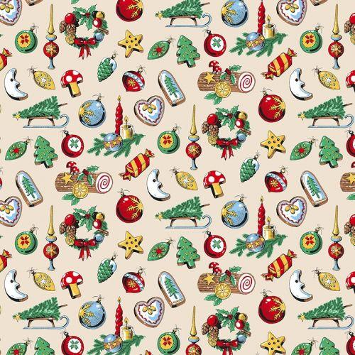 Tissu à motif Noël...